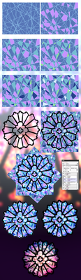 Stained Glass Texture Step By Step by rika-dono