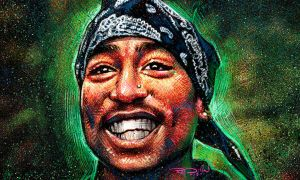 Tupac Smiling by RayDillon