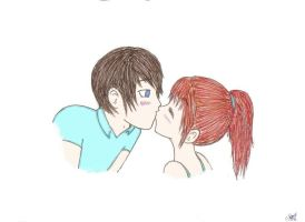 Surprise Kiss by Forever-Sam