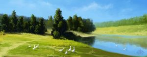 Speedpaint 3_Morning landscape by StaikVRazum