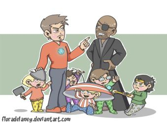 Minivengers by FloraDelaney