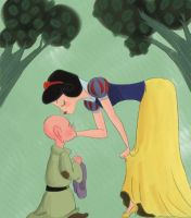 snow white + dopey by fabiosketches