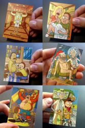 Rick and Morty official sketchcards III by PencilInPain