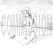 Commission - Anri at the Beach by endlessnostalgia