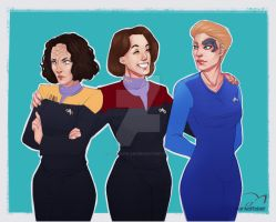 Star Trek Voyager by darkelfslair