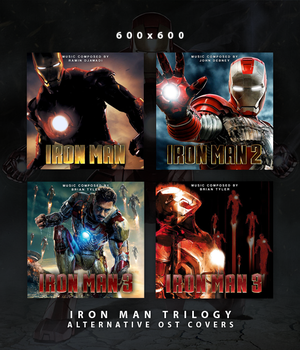 Iron Man Trilogy - Alternative OST Covers by HelloMrBen