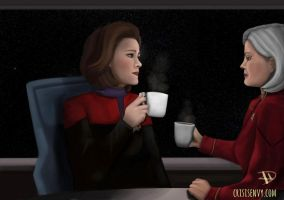Coffee with the Janeways by CrisisEnvy