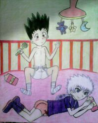 Diapers - Gon and killua  by sheinpower