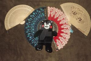 KUMAMON, with fans by KenshinKyo