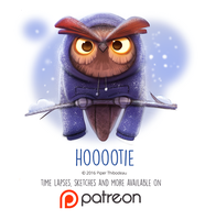 Daily Paint 1463. Hoootie by Cryptid-Creations
