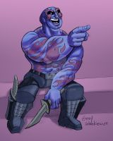 Drax The Destroyer Laughing by Stnk13