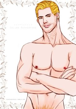 Naked Cullen #1 by pookyhuntress