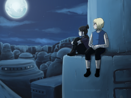 Suna at Night by Pancake-Senpaii