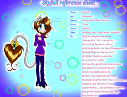 Skyfall reference sheet by InkingSky