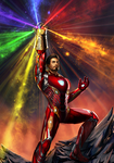 Iron Man Wielding Infinity Gauntlet (New Forged) by buynsanjaa