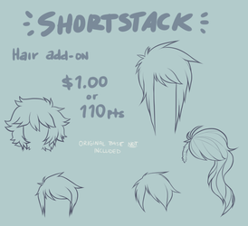 Shortstack Base || HAIR ADD-ON by gothicwaifu