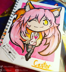 Fate/Extra: Caster Chibi by MissKilvas