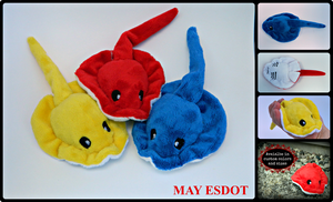 Pocket Plush Stingrays: Primary Colors (FOR SALE) by MayEsdot