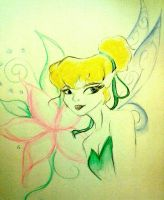 TINKERBELL WATER COLOR DOODLE by TTPRINCE