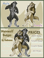 Werewolf Badges by Tsebresos