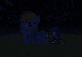 Sonic and Dash getting wet by Sonaze-Knight