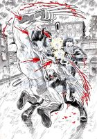Wolverine VS The Punisher by pin-up-corner-shop