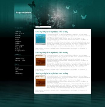 wordpress template by hype-rules