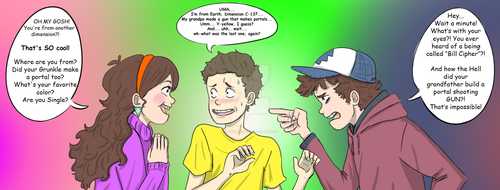The Pines Twins Meet Morty by spookylolly
