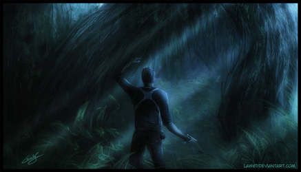 Uncharted 4 speed painting by Law67
