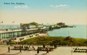 Vintage UK - Palace Pier, Brighton by Yesterdays-Paper