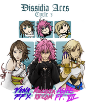 Dissidia Aces Cycle 5 Team Yuna by chevaliers17