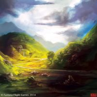 Hills of Dunland by kovah