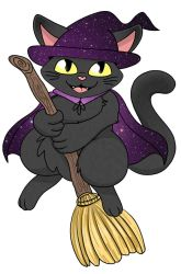 Witch Cat Sticker Art by AshWolves5