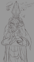 Hive!Cyra Sketch // Will never finish by Kyoshoku