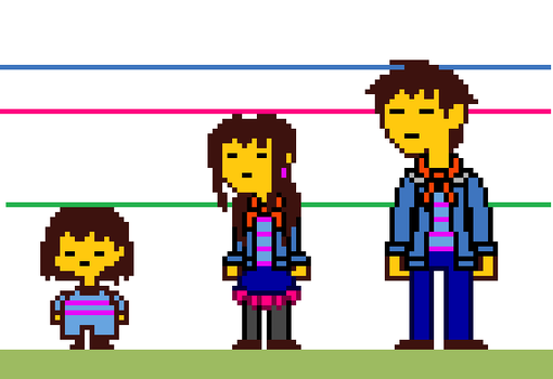 Teen/Adult Frisk Sprite Height Chart by StarLaurenTitan