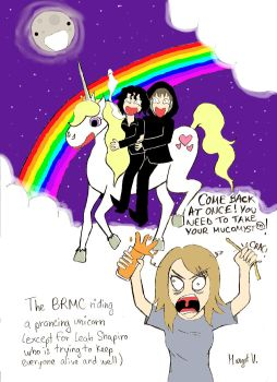 BRMC and Prancing Unicorn by Rowanny-Queen
