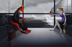 Flight Delayed by little-owlette