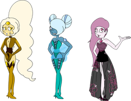 SU Overcooked Pearl Adopts (sold) by SmilesUpsideDown
