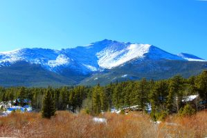 Mount Meeker in the Snow by TheSleepyRabbit