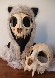 Cat Skull Mask - painted (top) - FOR SALE - by Bueshang