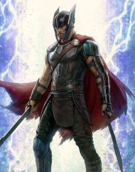 New Thor: Ragnarok Battle Ready Thor Concept Art by Artlover67