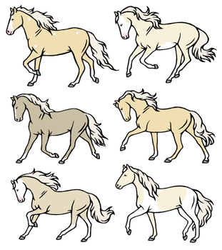 Small Palomino Adopt Batch  4/6 Open by Wild-Heart-Stables