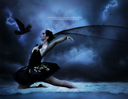 Dance of the Black Swan by MysticSerenity