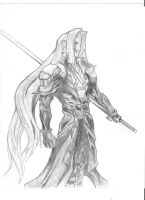 Sephiroth Sketch by ska112
