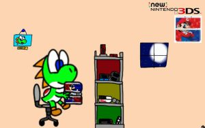 Yoshi and New 3DS by DeviantYoshi64