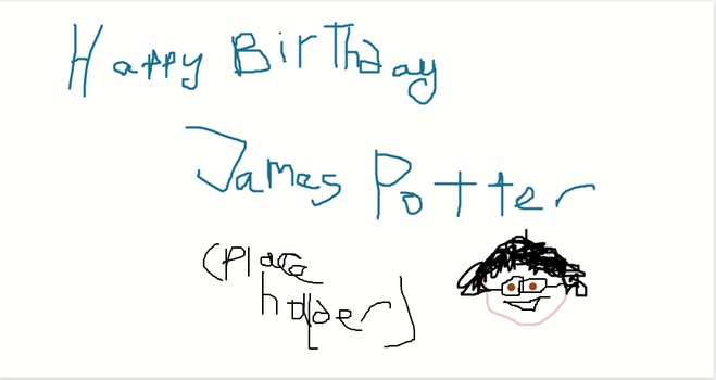 HAPPY BIRTHDAY JAMES POTTER- WIP by Mairelyn