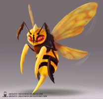 Kanto -  Beedrill by ArtKitt-Creations