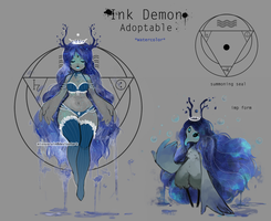 Ink Demon *watercolor* [closed] by missusruin