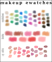 Makeup Color Swatches by BrittSheilVogel