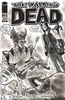 The Walking Dead Wolverine Sketch Cover by timshinn73